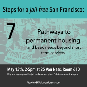 Create pathways towards permanent and sustainable housing and basic needs: Programs should recognize that secure housing, jobs, education, food, and health care are essential to individual and community health, not just short term services like shelters. All residents, especially those seeking services or returning from jail or prison, must be supported and empowered to contribute to their communities.