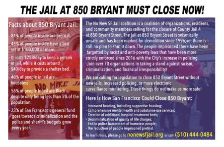 Close 850 Bryant Now! FactSheet (Back)